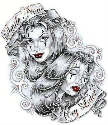 gangster clown tattoo designs Drawings Of Gangster Girl Clowns