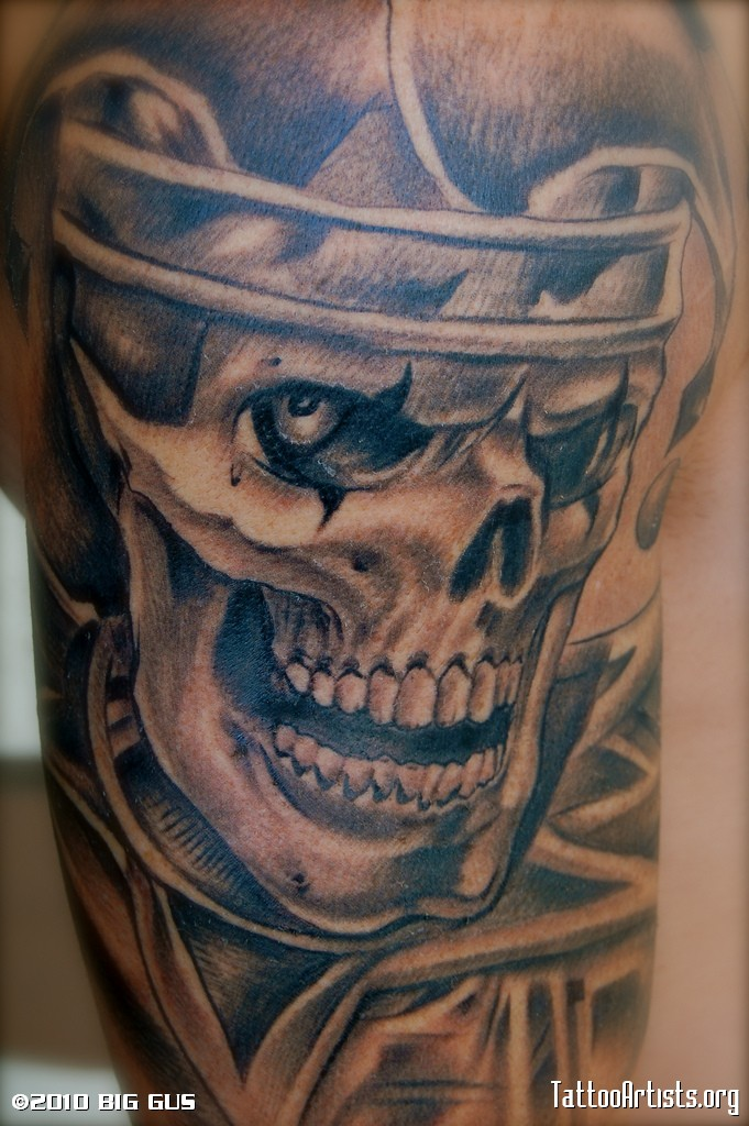 Gallery For gt Gangster Skull With Hat Tattoo