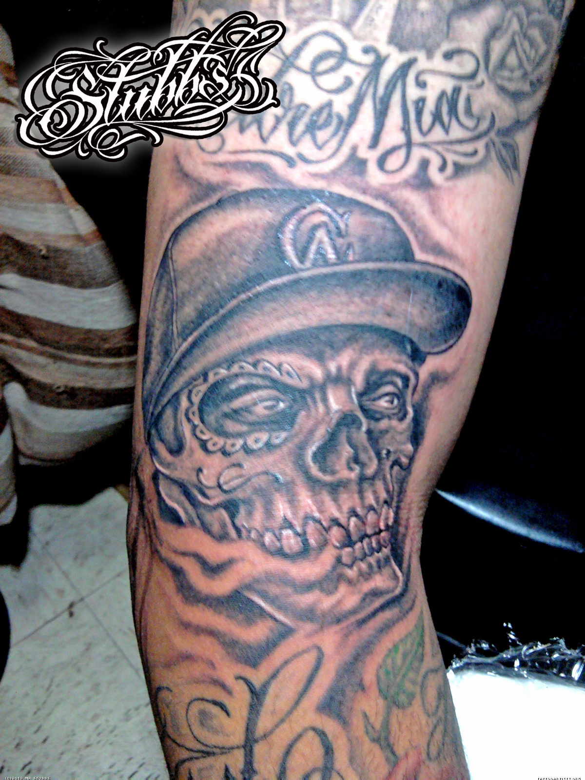 Skulls And Smoke Tattoo Sleeve