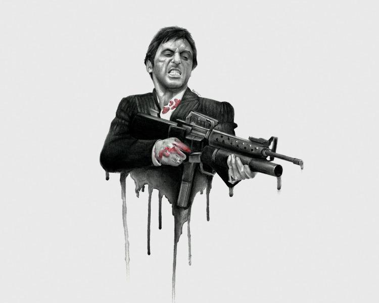 Gangsta tattoo images designs - Scarface cartoon wallpaper ...
