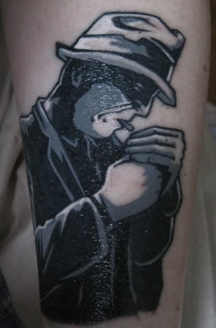 Smoking Gangster Tattoo