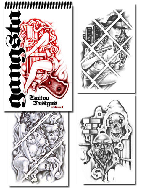 Gangsta Gun Tattoos New Designs