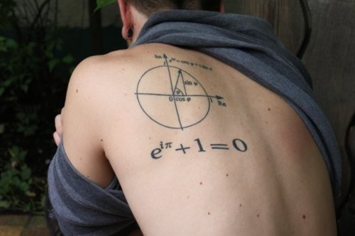 Math Geek Tattoo On Back Shoulder