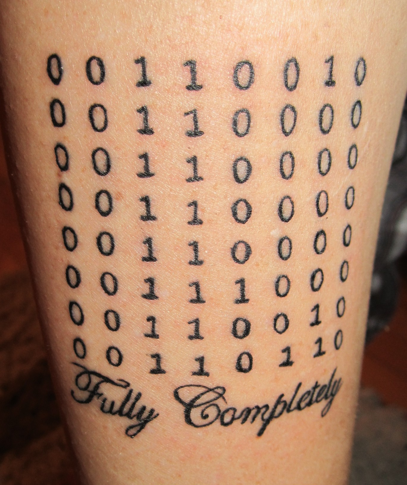 Digital Numbers Tattoos On Arm