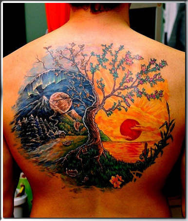 Scenery Tattoo Images &amp Designs