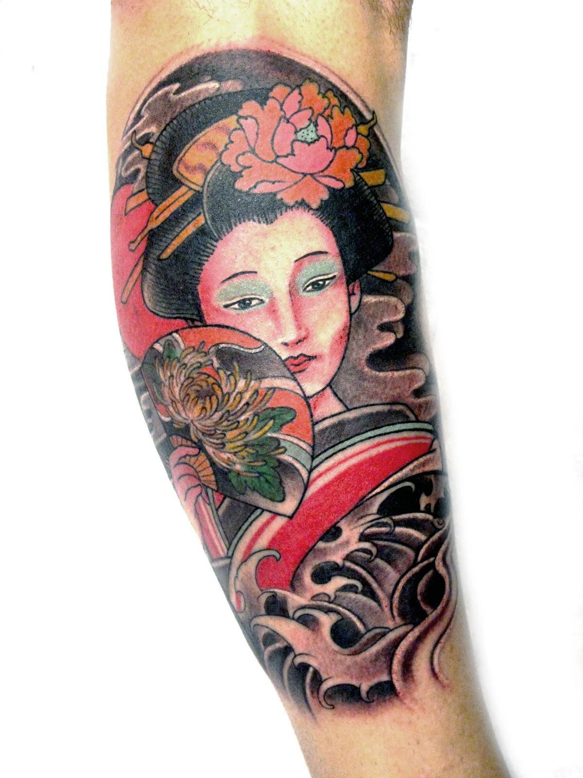 Geisha color photos