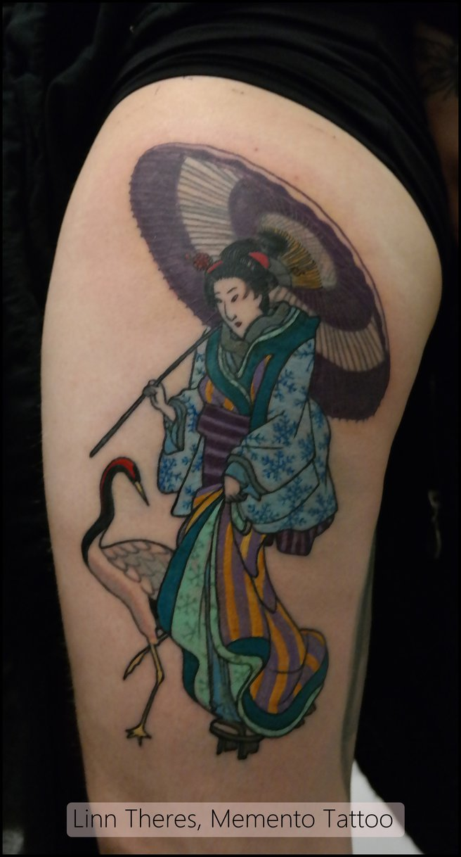 Geisha Tattoo Images Designs