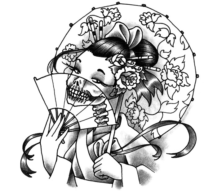 Geisha Tattoo Images Amp Designs