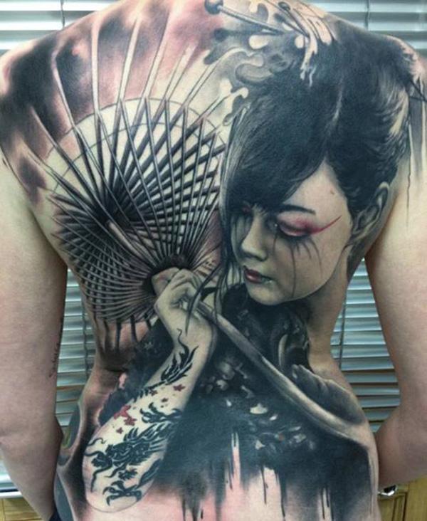 Geisha Tattoo Images & Designs