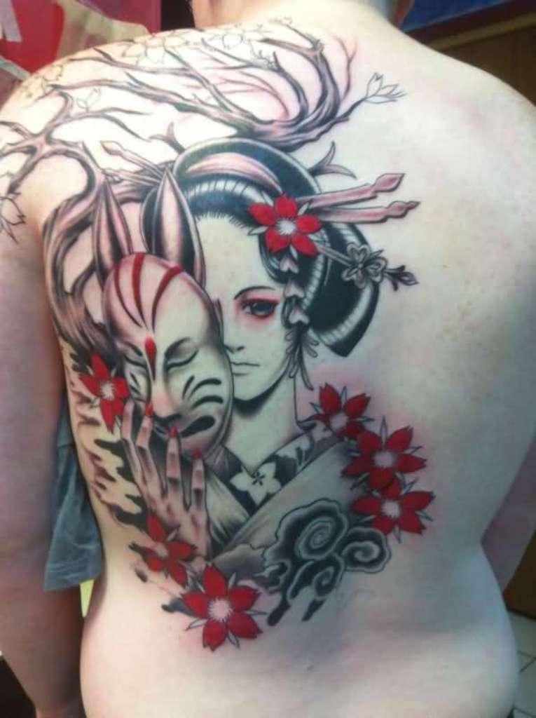 Geisha Tattoos Designs & Ideas : Page 41