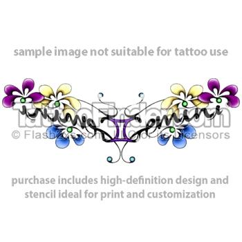 ef78f9daa Awesome Colored Gemini Tattoo Design For Lowerback