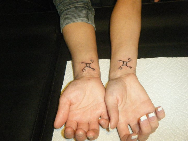 Gemini tattoo images designs for Bf gf matching tattoos