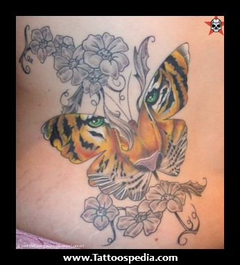 tiger head butterfly and gemini tattoo. Black Bedroom Furniture Sets. Home Design Ideas