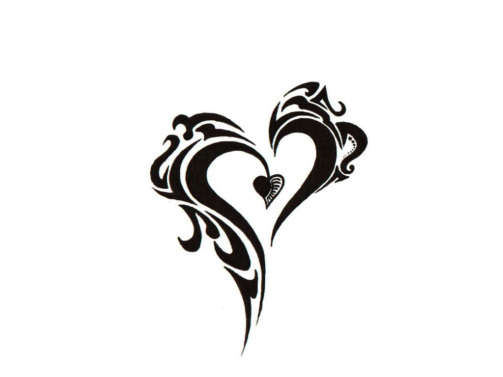 Gothic Heart Tattoos Black ink gothic heart tattoo