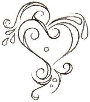 Attractive Gothic Heart Tattoo Design