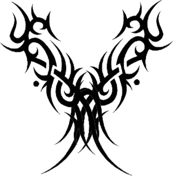 black tribal gothic tattoo design. Black Bedroom Furniture Sets. Home Design Ideas