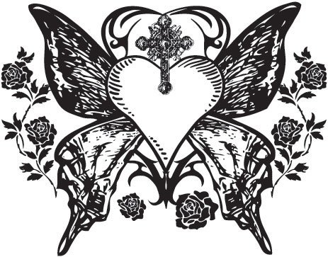 Gothic Butterfly Butterfly Wings Gothic Tattoo