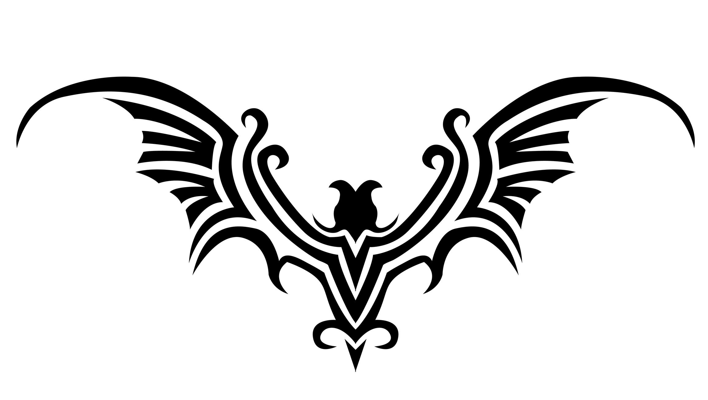 Gothic Heart Tattoos Gothic bat tattoo design