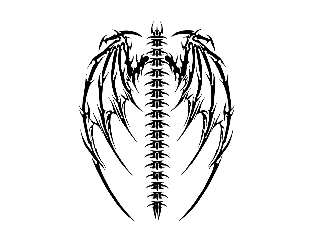Gothic Heart Tattoos Simple tribal gothic tattoo
