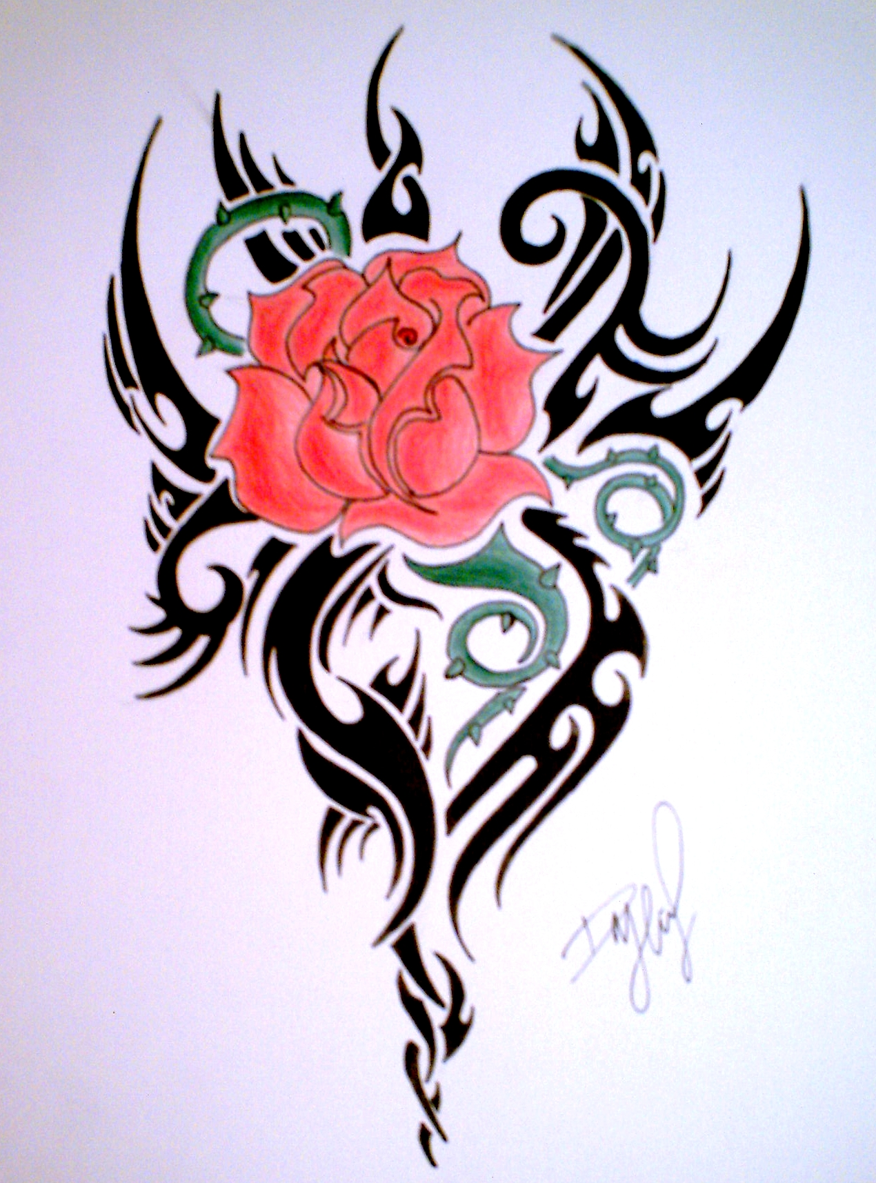 hd tattoos tribal Tribal Heart Rose Photos And Tattoos Gallery  HD