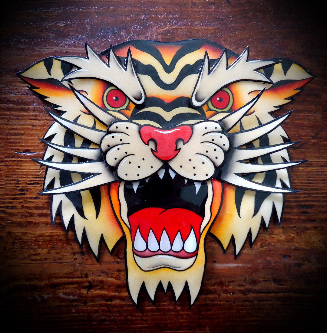 Ink Tiger Head Tattoo