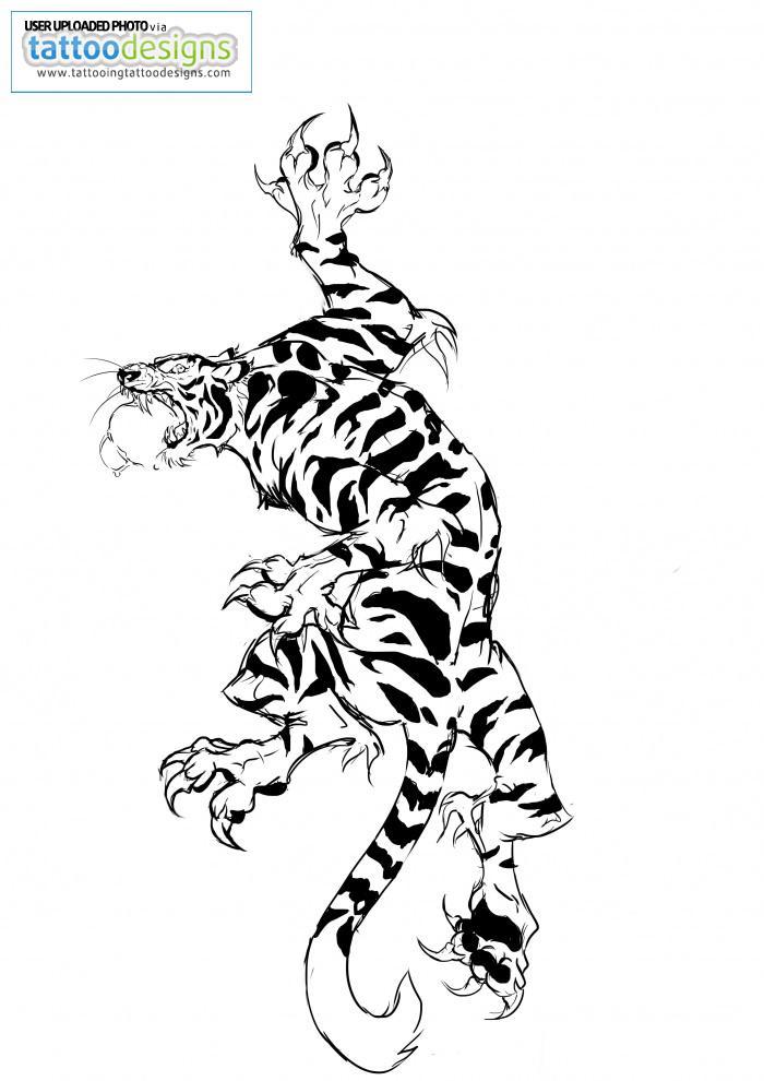 Tiger Footprint Tattoo Attractive Tiger Tattoo Design