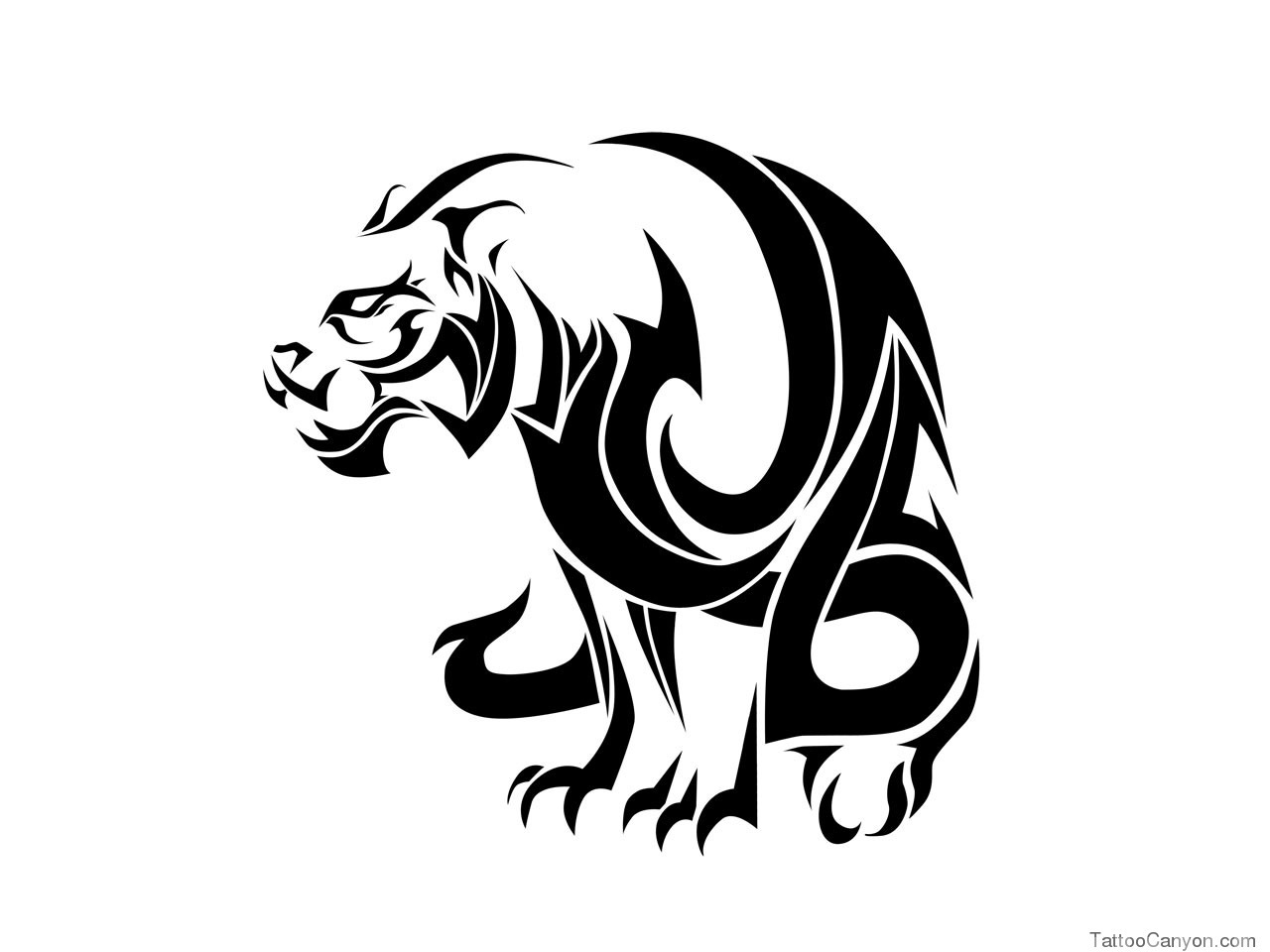 Tribal Tiger Face Tattoos Crazywidow Info