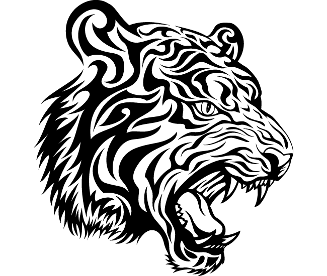 tiger head tattoo designs