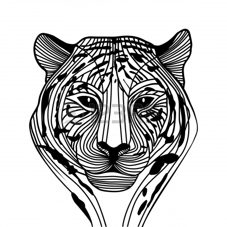 cool tribal tiger head tattoo design. Black Bedroom Furniture Sets. Home Design Ideas