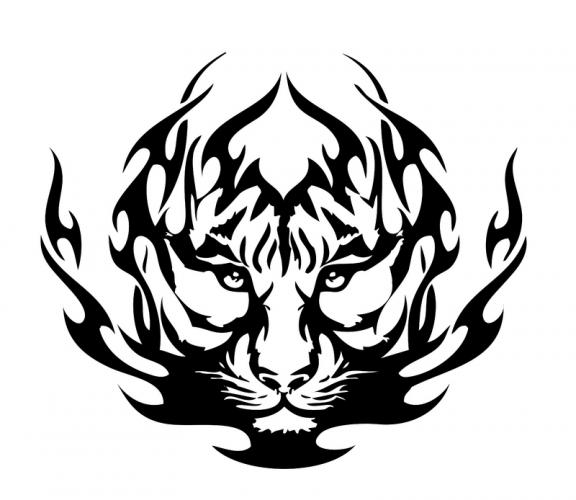 Pics Photos Tribal Tiger Colouring Pages Tattoo Picture