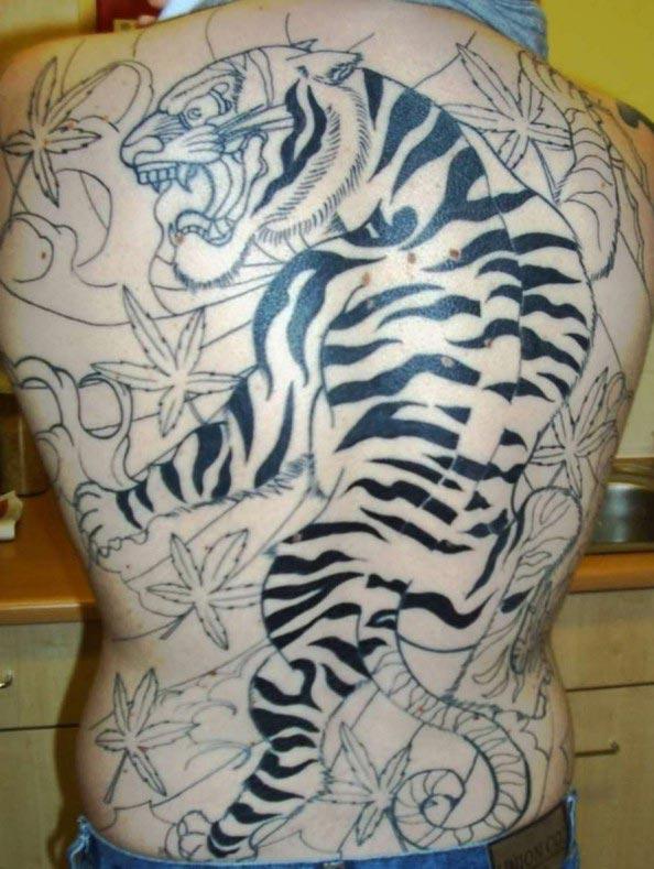 Full Back Tiger Tattoo