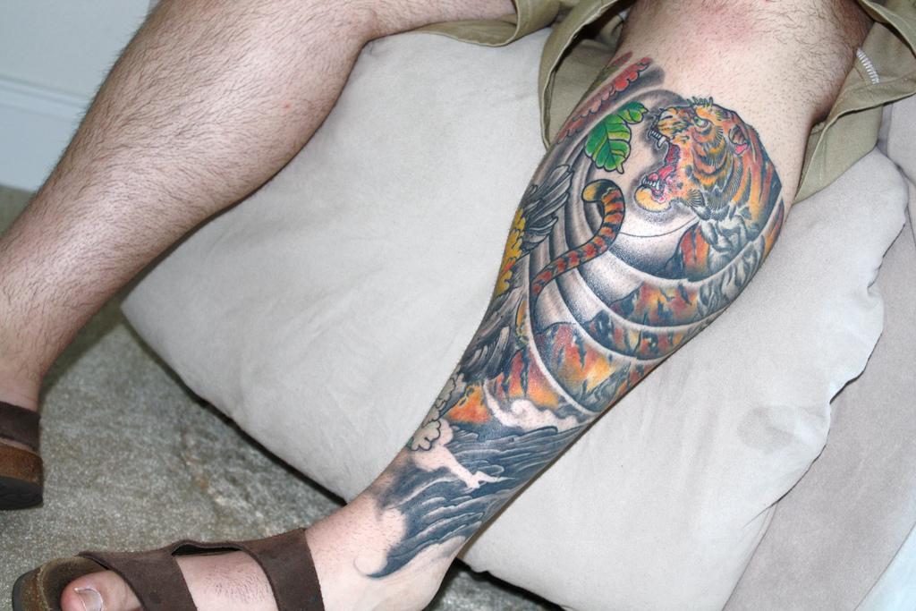 Japanese Tiger Tattoo Shoulder Japanese Tiger Tattoo on Left