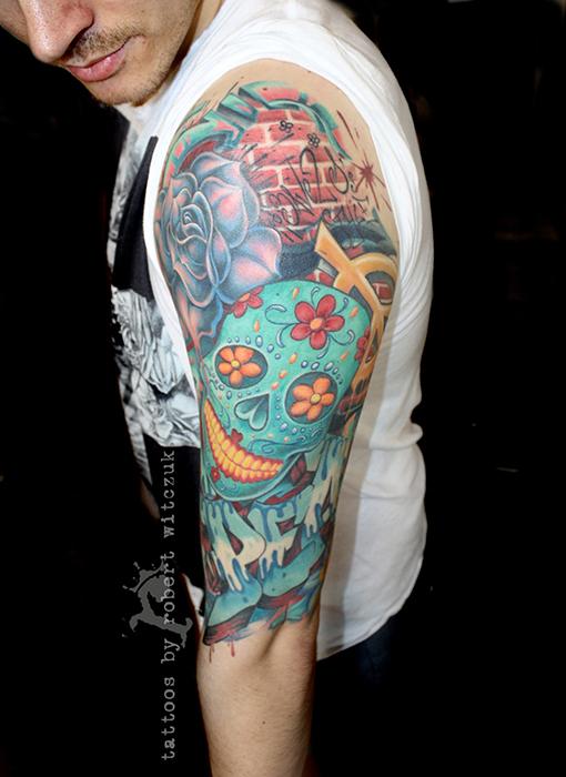 Graffitis tatto for Graffiti tattoos sleeves