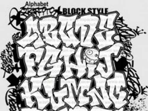 Graffiti Alphabet Letters Tattoos Design