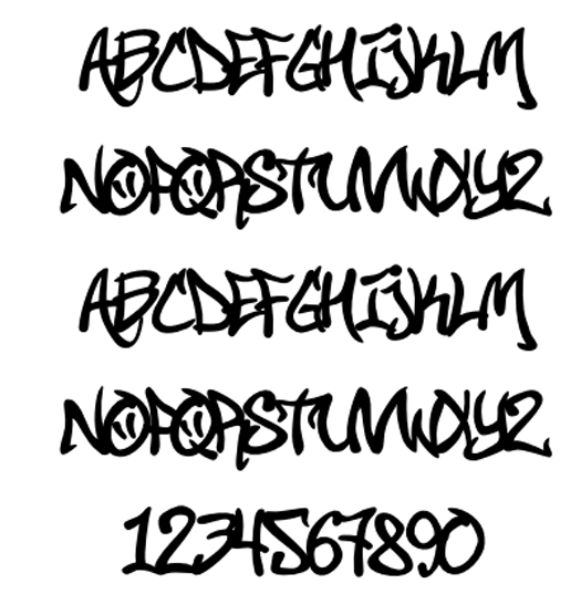 Graffiti Fonts Tattoos Designs