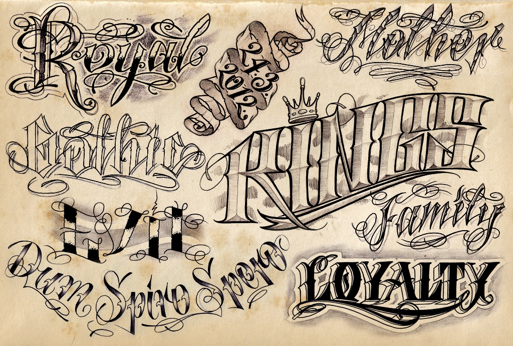 traditional tattoo fonts