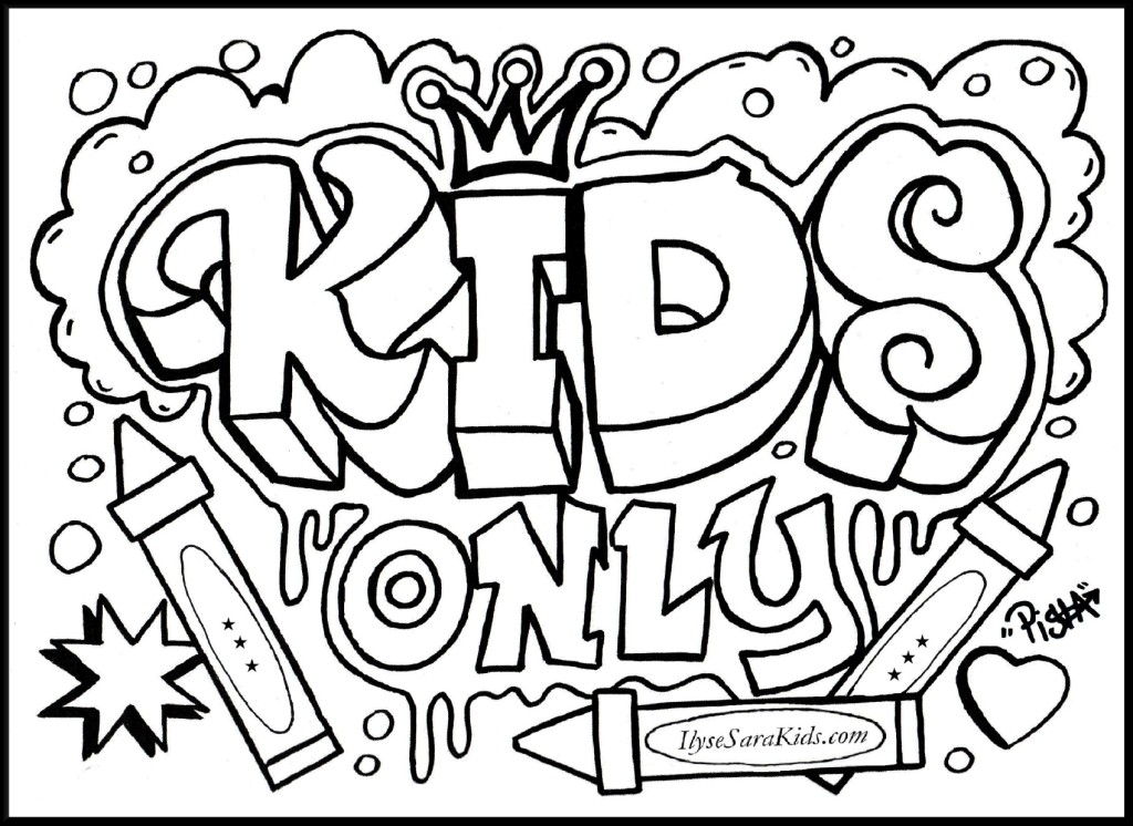 Kids Only Graffiti Tattoo Design