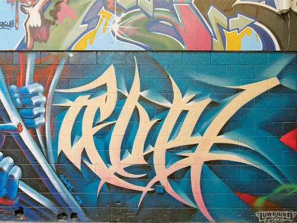 Tribal Gear Graffiti Tattoo Design