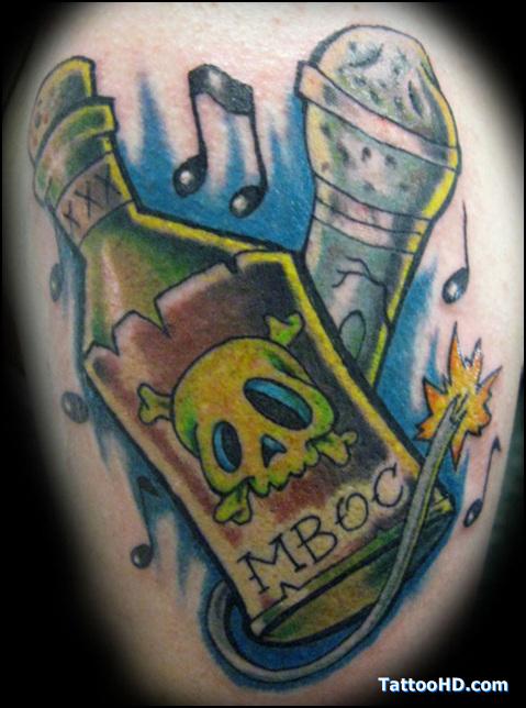 Unique Color Ink Graffiti Tattoo Design