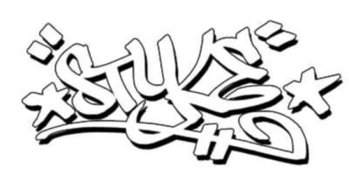 Wonderful Style Graffiti Tattoo Design