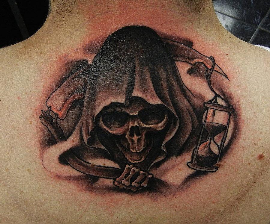 Grim Reaper Back Tattoo: 13 Ghastly Grim Reaper Tattoo Designs