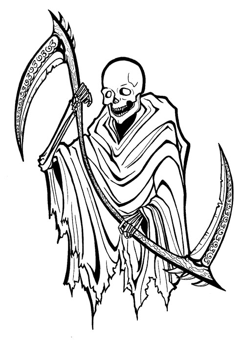 Gallery For gt Grim Reaper Outline