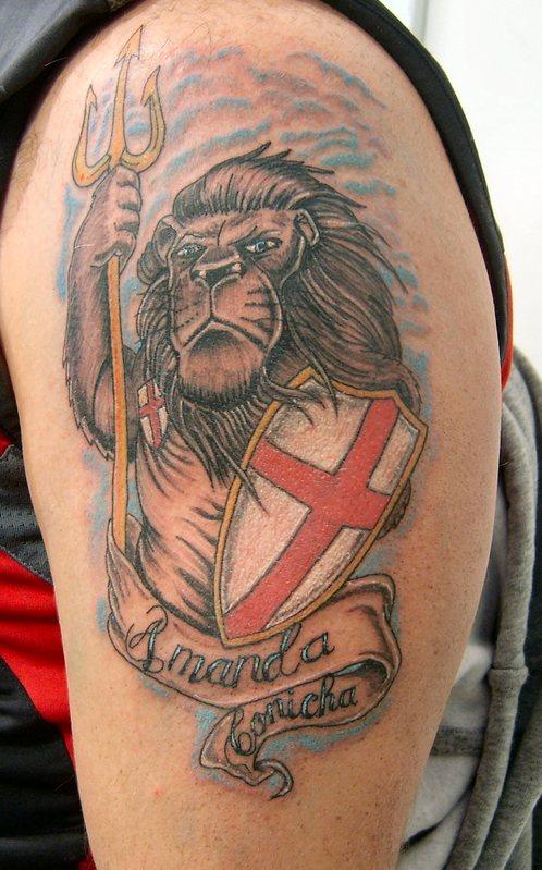 amanda flag tattoo