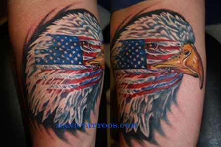 American Flag  Eagle Tattoos on American Flag And Eagle Tattoo
