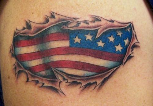 American Flag Tattoo Design Art