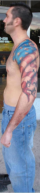 Flag tattoo images designs for American flag tattoos pictures