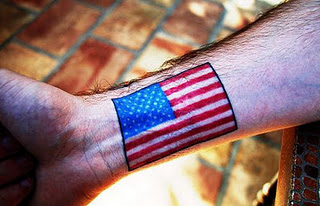 American Flag Tattoos Designs