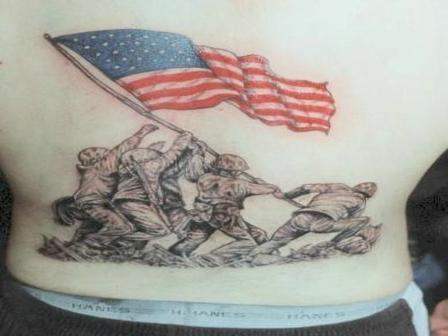 American International Flag Tattoo