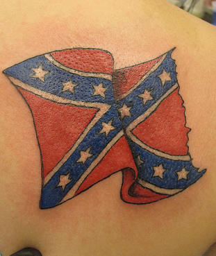 Beautiful Flag Tattoo For Body
