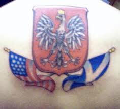 Beautiful Flags Tattoo On Back